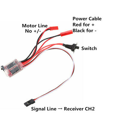 30A Mini Brushed ESC Brush Electronic Motor Speed Controller For RC Car Boat • 6.29£