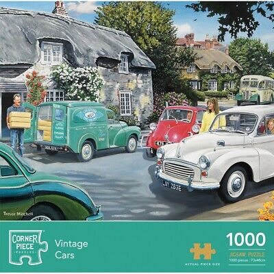 Vintage Cars 1000 Piece Jigsaw Puzzle (null), Toys & Games, Brand New • 8£