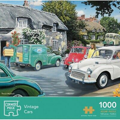 Vintage Cars 1000 Piece Jigsaw Puzzle, Toys & Games, Brand New • 9£