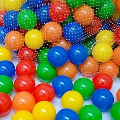 100x Plastic Pit Balls For Children Ball Pits Kids Multi Coloured Toys Play Pool • 7.47£