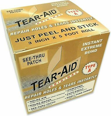 Tear Aid Type A 6  X (multiple Sizes) For Fabrics, Rubber, Plastics And More • 29.99£