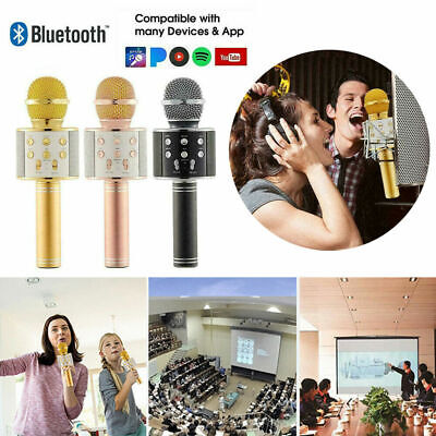 Children Microphone Bluetooth Mic Karaoke Singing Kids Music Fun Toys Gifts UK • 8.91£