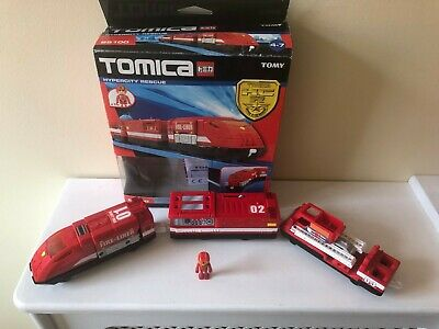 Trackmaster Tomy Tomica Hypercity Fire Liner Rescue Train 85100 + Figure! Boxed • 15.99£