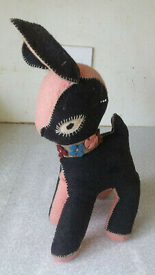 Lovely Vintage Retro Stuffed Toy Lamb -  12 Inches Tall- Stitched Seams • 16.99£