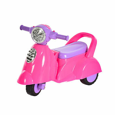 HOMCOM Baby Ride-On Car Pusher Stroller Storage Lights Horn Music 3 Wheels Pink • 23.99£