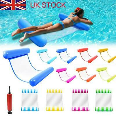 Inflatable Floating Water Hammock Float Pool Lounge Bed Swimming Chair New • 6.68£