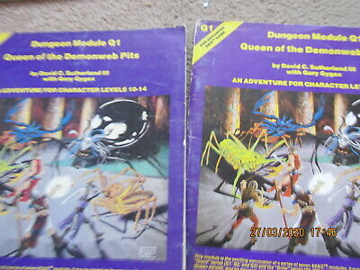 Tsr Ad&d 2 Q1 Queen Of The Demonweb Pits Incomplete Advanced  Dungeons Dragons • 5.99£