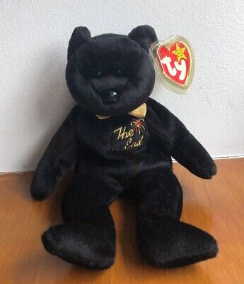 """Vintage Ty Beanie Baby, Soft Toy """"The End"""" Bear, With Tags. • 1.30£"""
