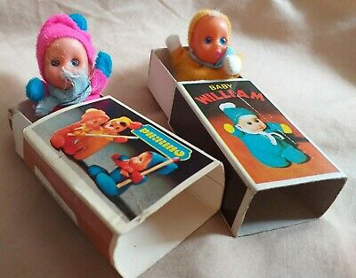Matchbox Mini Bean Baby William And Pierino Baby In Boxes • 8.30£