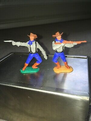Timpo Confederate Cavalry Soldiers With Black Braces • 14.99£