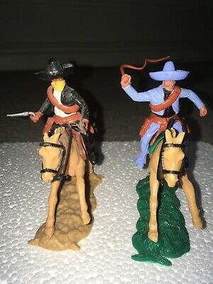 Timpo Mounted Mexican Cowboy Bandito And Accomplice • 19.99£