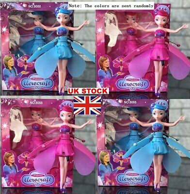 UK Wireless Flying Fairy Magical Pink Doll Toy Princess Rechargeable Fairy-Girls • 8.31£