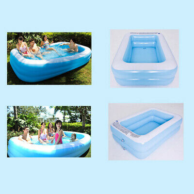 Summer Outdoor Inflatable Swimming Pool Garden Paddling Pools For Adult Kids • 28.99£