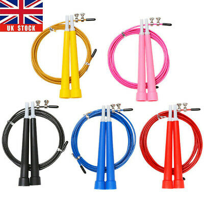 3m Speed Skipping Rope Adjustable Steel Cable Fitness Exercise Crossfit Boxing • 2.96£