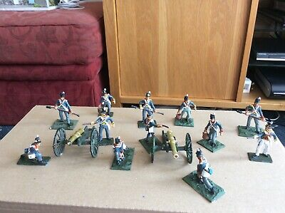 12 A Call To Arms British Artillery Painted Plastic 1/32 + 2 Cannons Napoleonic • 4.70£