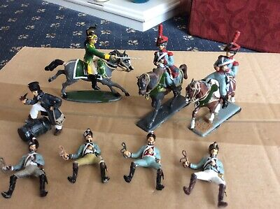 MHSP 1/32 Metal Painted French Napoleonic Cavalry Dragoon And Train Drivers • 6.30£