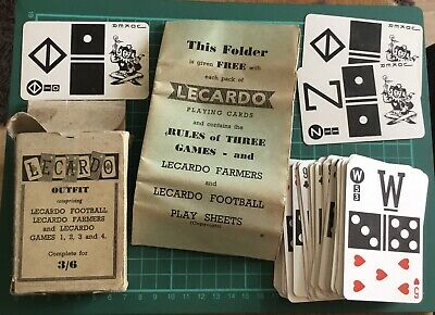 Vintage Lecardo Outfit Farmer & Football Card Game ~ Wartime Packing Edition • 5.95£