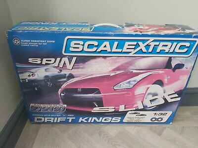 Scalextric Drift Kings Nissan Gt-r Silver V Red In Box  • 35£