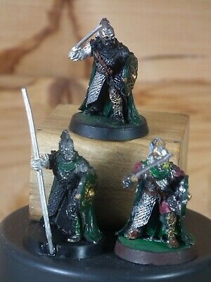 3 Classic Metal Lotr Rohan Royal Guard On Foot Part Painted (2757) • 10£