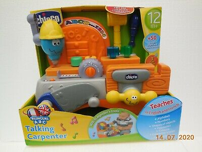 Chicco Talking Carpenter ~ Bilingual Toy ~ Helps Your Child's Language Skills • 25£