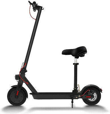 36v ADULT KIDS ELECTRIC SCOOTER BATTERY 350w MOTOR E-SCOOTER WITH SEAT UK STOCK • 298.99£