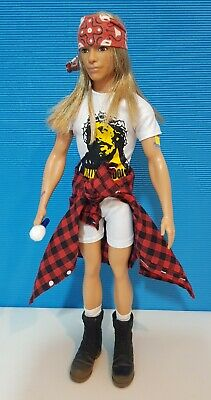 Custom Axl Rose Barbie Ken Doll Figure 12  1/6 Scale Guns N Roses OOAK • 74.99£