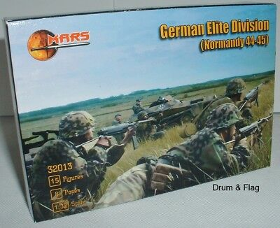 MARS 32013 German Elite Division Normandy 44-45 (Waffen SS) WW2 1/32 Scale • 19.99£