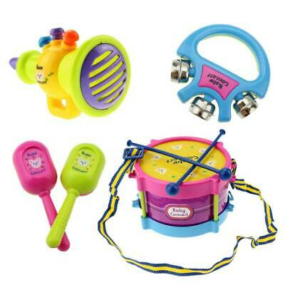 5 Baby Boy Girl Drum Musical Instruments Drum Kit Toddlers Children Toys Gift EA • 7.79£