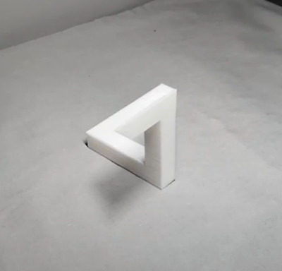Penrose Triangle Paradox Illusion White 3D Printed Ambiguous Optical Illusion • 11.99£