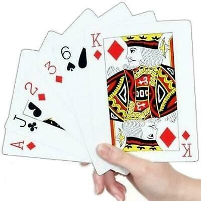 A4 Giant Playing Cards X Large Jumbo Outdoor Family BBQ Game Party Deck Of 52 • 7.25£