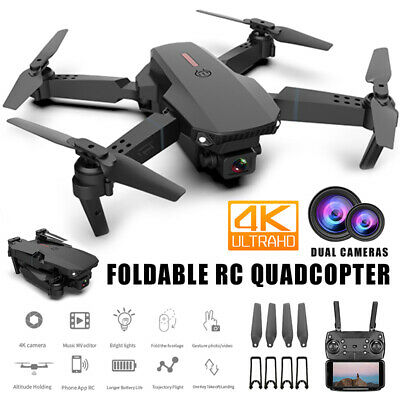 4K HD Drone X Pro Dual Camera WIFI FPV Foldable Mini Selfie RC Quadcopter 6 Axis • 39.99£
