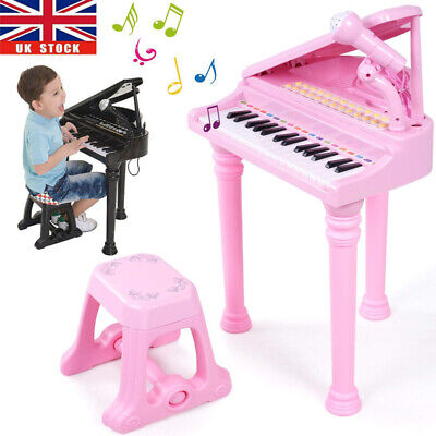 Electronic Classic Baby Grand Piano 31 Keys Childs Pink Toys Kids Keyboard Music • 25.96£