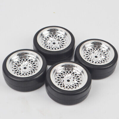 4Pcs 1/10 Rc On Road Flat Drift Tires Tyres Whees For Tamiya HSP HPI Car Model   • 11.99£
