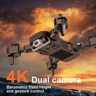√Drone Pro WIFI FPV 4K HD Dual Camera Battery Foldable Selfie RC Quadcopter UK√ • 43.70£