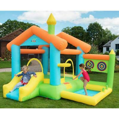 Bounce House Bouncy Castle Inflatable Outdoor Garden Fun Play With Accessories • 348.99£
