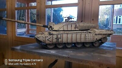 Heng Long 1/16  Challenger  2 With Full Chobham Armour Upgrade Custom Painted  • 375£