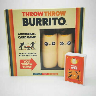 Throw Throw Burrito A Dodge Ball Card Game Original Edition Party Game Brand New • 17.99£