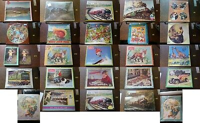 SELECTION OF VINTAGE JIGSAWS. MANY With Wooden Pieces. Loads To Choose From • 10£