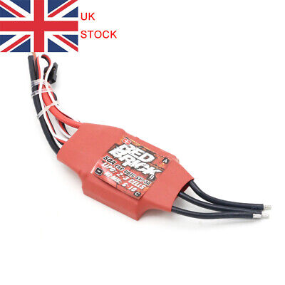 Red Brick 50A/70A/80A/100A/125A/200A Brushless ESC Electronic Speed Controller • 32.89£