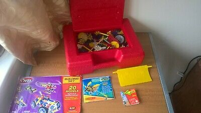 Knex Large Bundle With Red Case And Various Building Instructions Booklets • 24.99£