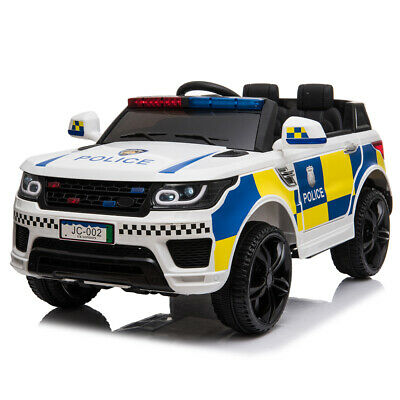 12V Electric Kid Ride On Police Car 2.4G Siren Opening Side Door Remote Control • 129.95£