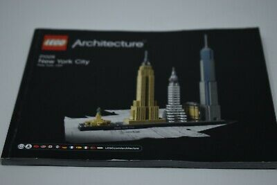 Lego Architecture 21028 New York City - INSTRUCTIONS MANUAL ONLY  • 3£