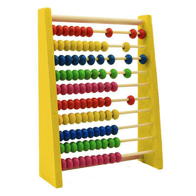 Creative Wooden Bead Abacus Counting Frame Educational Learn Maths Kids Toys • 6.59£