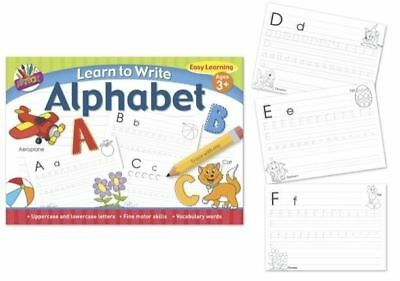 A4 Kids Learn To Write Alphabet Handwriting Practice Letters Book Pad Pre School • 1.79£