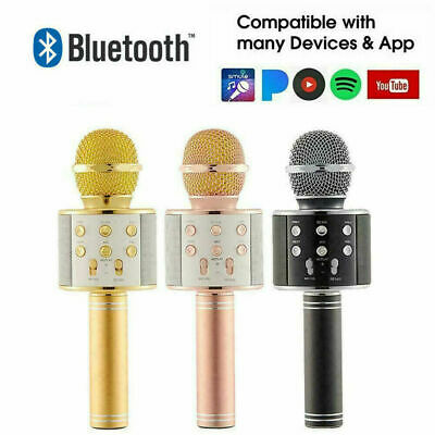 Wireless Microphone Bluetooth Mic Karaoke Singing Kids Music Toys Xmas Gifts Fun • 10.75£