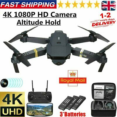 Drone X Pro 2.4G WIFI FPV HD Camera 3 Batteries Foldable Selfie RC Quadcopter • 30.32£