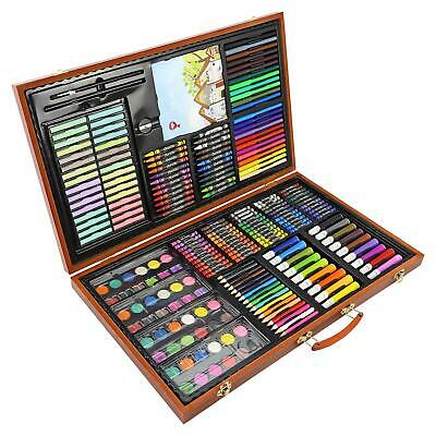 258pc Artists Wooden Art Case Colouring Pencils Painting Set Childrens/Adults • 24.95£