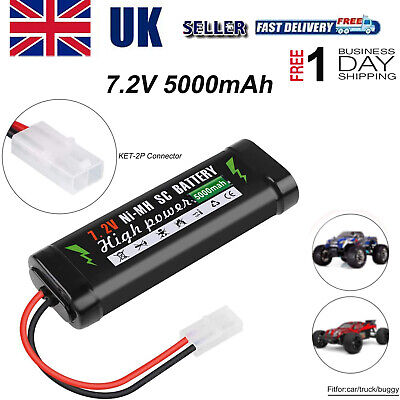 7.2V 5000mAh NiMH Rechargeable Battery With KET-2P Plug For RC Car Battery Tools • 17.57£