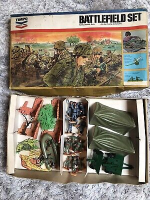 Timpo Toys Vintage 1401 Wwii Battlefield Modern Army Boxed War Gaming Set Rare • 275£