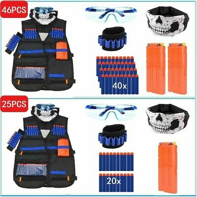 NERF Vest Gun Tactical Kids Jacket GFU For Boys Utility Ammo NURF N Accessories • 14.99£